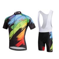 China 2018 customize your design full sublimation short sleeve cycling suit on sale