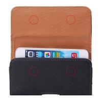 Quality iPhone Clamshell Belt hanging waist leather case Old man phone bag Universal for sale