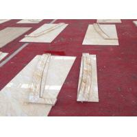 Cream Onyx Natural Marble Tile Hammered Solid Surface Grade A Quality Manufactures