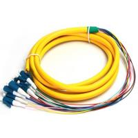 0.5M FC - LC 12 Cores Armored Fiber Optic Pigtail Connector , Lc Pigtail Single Mode Manufactures