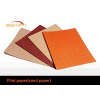 Red Flint Aluminium Oxide Abrasive Paper Removing Paint For Furniture Industry Manufactures