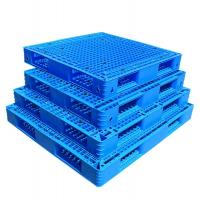 PP/PE Single Side 9 Feets Nestable Plastic Pallet for Warehouse Manufactures