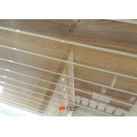 Customized Wall Decoration Wood Grain MDF Board With White Caved Line Manufactures