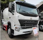 8cbm Cement Mixing Trucks , Concrete Mixing Transport Truck 336 HP Manufactures