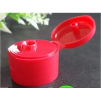 Red Bottle Flip Cap Durable Body / Natural Color Dispensing Caps For Liquid Containers