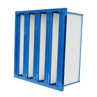 Plastic frame v bank air filter H10 hepa filter with high air volume Manufactures