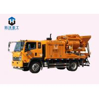 Double Horizontal Concrete Mixer Pump Truck Save Labor Costs 8 Mpa Pumping Pressure Manufactures