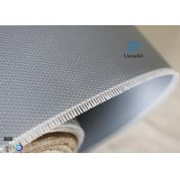 Double-sides 1.5m*50m 0.45mm Gray Silicone Coated Fiberglass Fabric Welding Curtain Manufactures