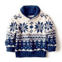 Boys and Girls Knitted Cotton Sweater Snowflake Design