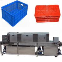 Electric Vegetable Basket Washing Machine , Automatic Plastic Tray Cleaning Machine Manufactures