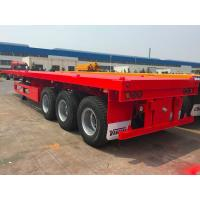 Semi Flatbed Container Trailer 40 Ft Gooseneck Trailer Large Loading Capacity Manufactures
