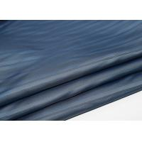 Blue Polyester Lining Fabric , Polyester Fleece Fabric SGS Certification