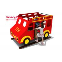 Toddler HDPE  Playground Bus Style Engineering Plastics High Strength Long Life Span