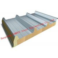 China Recycled Usage Fire Resistant Rock Wool Sandwich Panels Easy Installation Roof Systems on sale