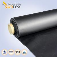 Neoprene Coated Fiberglass Chemical Resistant Fabric 0.5mm Black Color Weather Resistance Manufactures