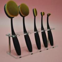 Clear Acrylic 5pcs Brush Foundation Makeup Brushes Holder Shelf Display Stand Manufactures