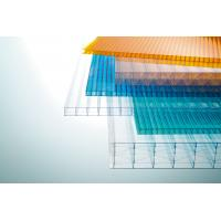Multi Color Corrugated Polycarbonate Roofing Sheets Weather And UV Resistant Manufactures
