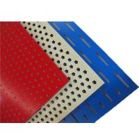 Melamine Surface Perforated Wood Acoustic Panels Polyester Fiber Hotel Acoustic Board Manufactures