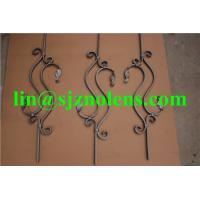 H800*W230 MM Wrought Iron Balustrades,  16*8MM Flat iron Fence And Railing Pickets Manufactures