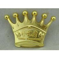 Buy cheap 3D Crown Brass Die Stuck Soft Enamel Pin Gold Plating Logo Customized from wholesalers