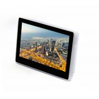 China Wall Mount Touch Screen Monitor With POE LED Light Bar For Status Indication on sale