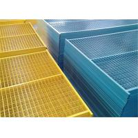 6'x9.6'  Construction Security Temp Fence Panels Tubing 30mm*30mm brace 20mm*20mm Powder Coated Red Manufactures