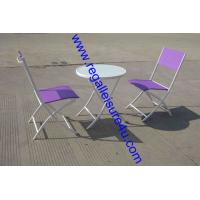 China cheap promotion style steel outdoor sling folded patio bistro set RLF-026T-9 on sale