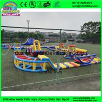 Buy cheap outdoor inflatable water trampoline with slide for sale/ Inflatable Aqua Park/ Water Park Equipment With from wholesalers