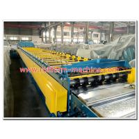 China Trapezoidal Profile Galvanised Open Deck Floor Panels Cold Roll Forming Machine on sale