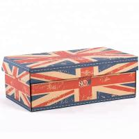 China CMYK 4 Color Printing Corrugated Shoe Boxes With Strong Tensile Force on sale