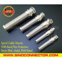 China IP68 Rated Spiral Metallic (Brass) Cable Gland with Flexible Kink & Twist Protection on sale