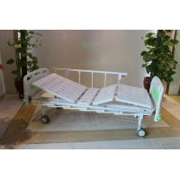 "Buy cheap CE Certificate Mechanical Two Cranks Hospital Patient Bed With 5"" Double Face from wholesalers"