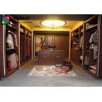 China Classic Wooden Bedroom Furniture Sets With Storage Cabinet , Brown MDF Board on sale
