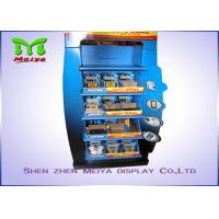 Innovative Design OEM Customized 5-tiers Shelves Cardboard Display Stands for  Battery / Charger Manufactures