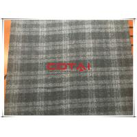 Black and Gray One side Thin Melton 7cm Tartan Wool Fabric , Width 150cm Manufactures