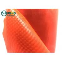 China Red Color Embroidery Backing Fabric 100% LDPE Glue Hot Melt Fusible Film For Computer Embroidery on sale