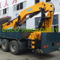 High Efficiency CE 50t Knuckle Telescoping Boom Crane Manufactures