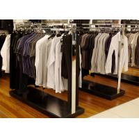 Elegant Modern Style Store Clothing Racks Wooden And Stainless Steel Material Manufactures