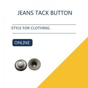 Black Antique Silver Custom Jeans Tack Button Leather Clothing Bulk Trims Manufactures