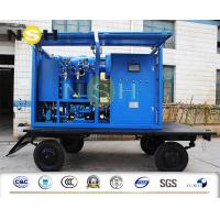 Outdoor Mobile Transformer Oil Purifier Double Stage With Trailer High Voltage