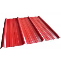 China Coloured Corrugated Roofing Sheets , Powder Coated Corrugated Metal Roofing Sheets on sale