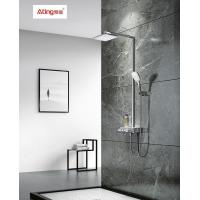 China AT-H005 thermostat controlled shower valves #304 SS Ating shower sets rectangle top Shower with washing faucet on sale