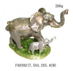 Elephant Trinket Box Mom & Baby Bejeweled Figurine Manufactures