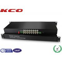 China FC UPC Fiber optic media converter Video Over Fiber Media Converter Rack Mounting on sale