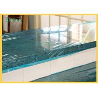 Self LDPE Dust Barrier PE Temporary Protective Film , Plastic Marble Protective Film Manufactures