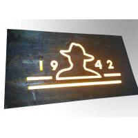 Custom Resin Illuminated Wooden Signs Wall Mounted Decoration Bar Sign Used Manufactures