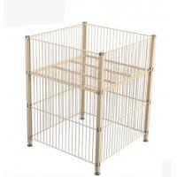 China Stable Foldable Pallet Container Metal Storage Cage Collapsible Wire Mesh Container on sale
