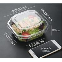 China Disposable Plastic Food Packaging salad bowl with lid,clear small food dessert disposable soup plastic salad bowl packag on sale