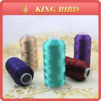 100% rayon viscose dyed Machine Embroidery Threads smooth 5000m Manufactures