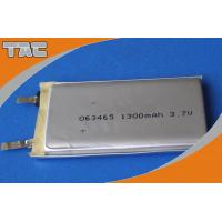 GSP063465 3.7V 1300mAh Polymer Lithium Ion Battery cells with high capacity